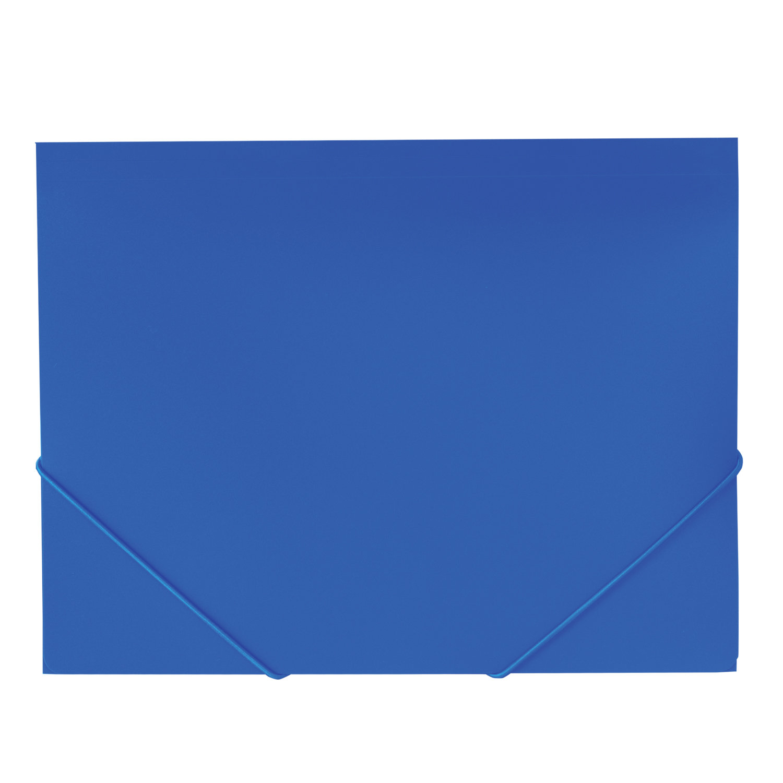 Папка архивная BRAUBERG на резинках, синяя, до 300 листов, 500 мкм, синий
