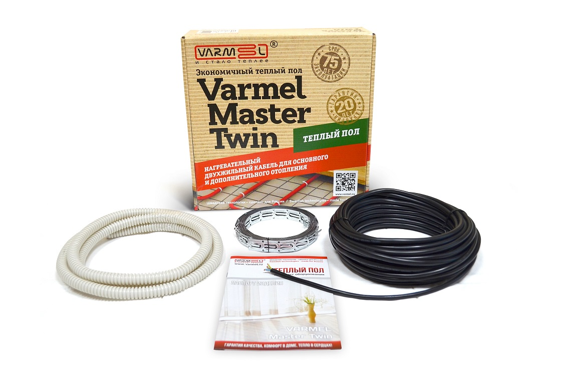 Теплый пол Varmel Varmеl Master Twin 920 Вт, 50 м, черный varmel master twin 330
