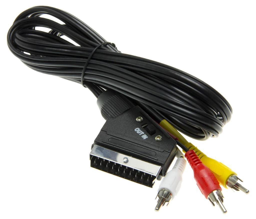 цена на Кабель Hama RCA adapter, черный