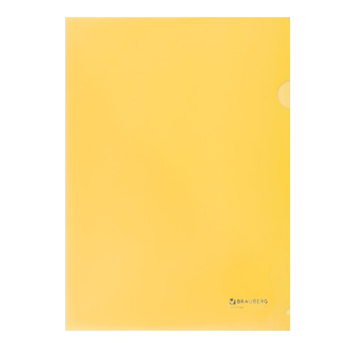 Папка-уголок BRAUBERG Формат А4, жесткая, 0,15 мм, желтый папка уголок hatber monster high дракулаура цвет черный розовый формат а4