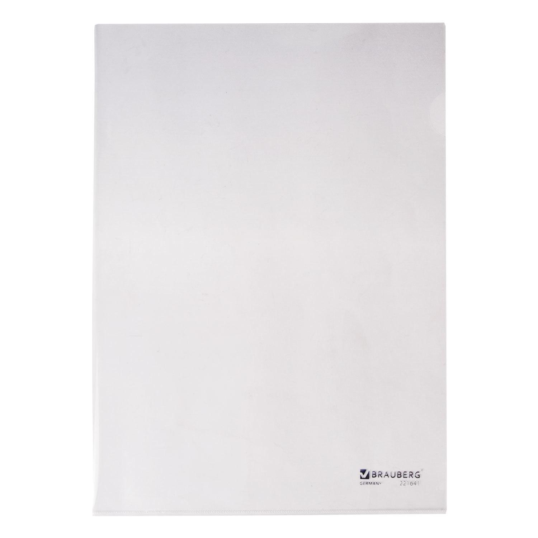 Папка-уголок BRAUBERG Формат А4, жесткая, 0,15 мм, прозрачный