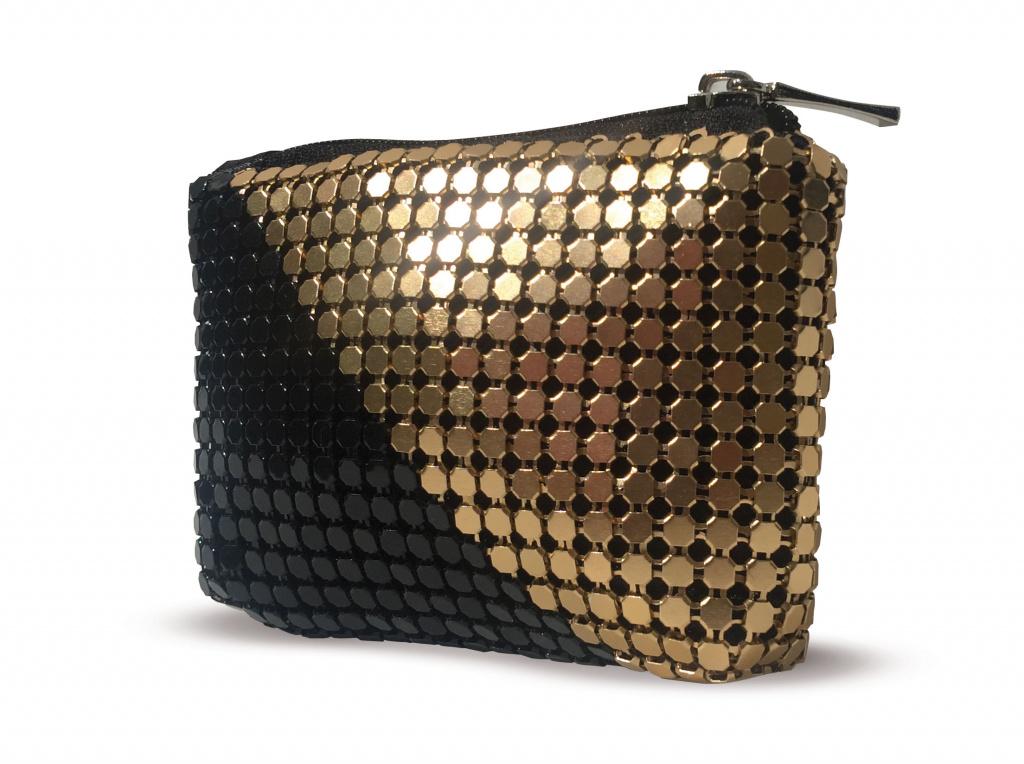 Клатч Moliabal 955/A, черный, золотой