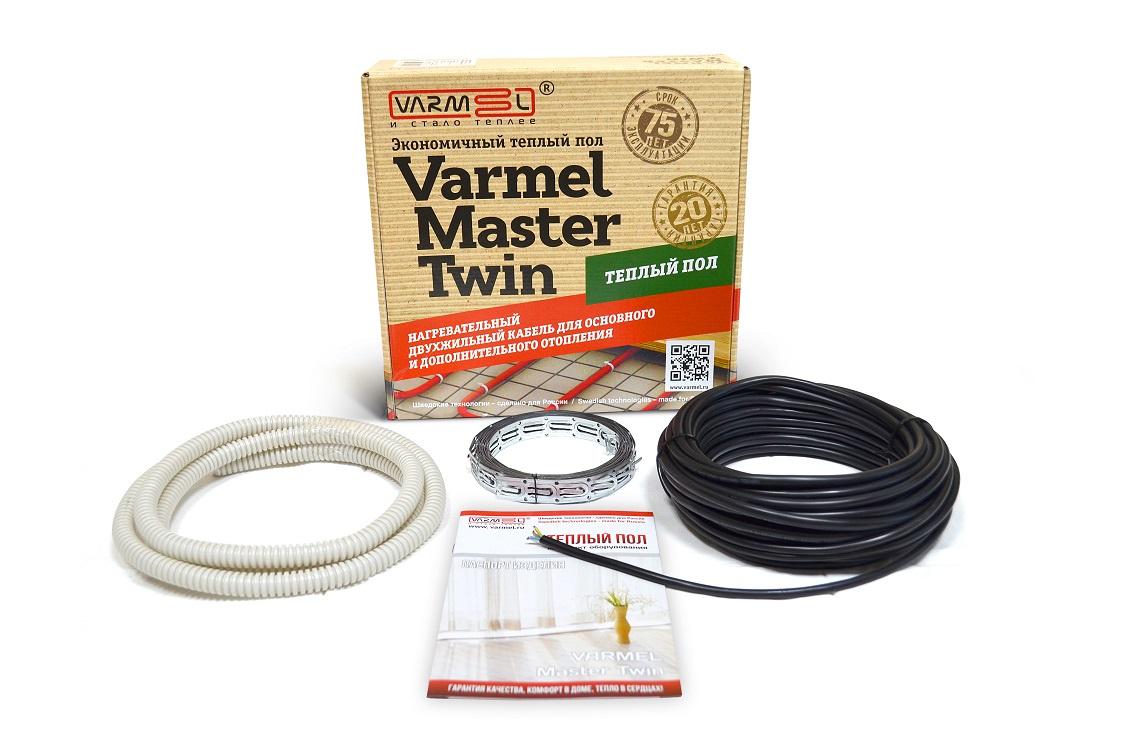 Теплый пол Varmel Master Twin 250 Вт, 13,5 м, черный varmel master twin 330