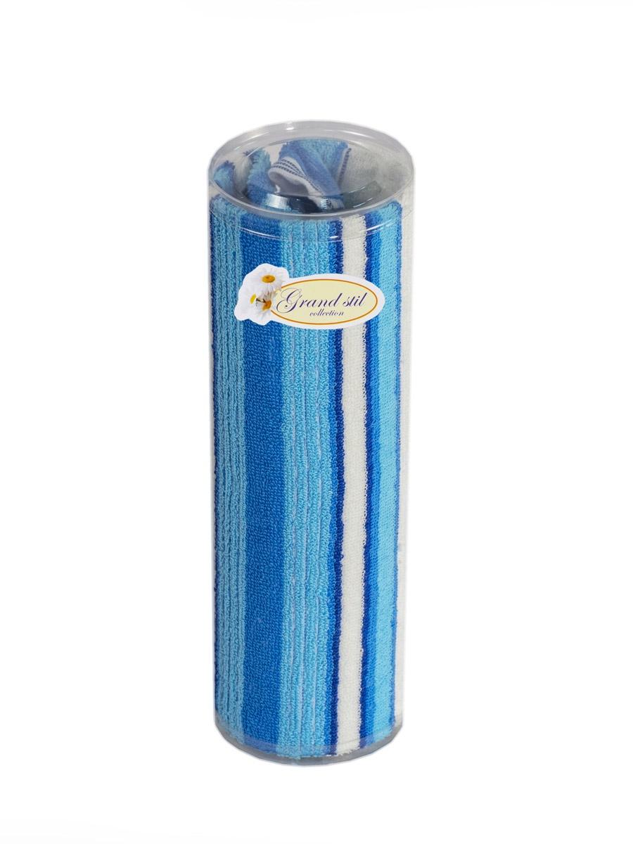 Полотенце для лица, рук или ног Grand Stil Витаминка с вышивкой , размер 40*70, 11-93t, синий цена