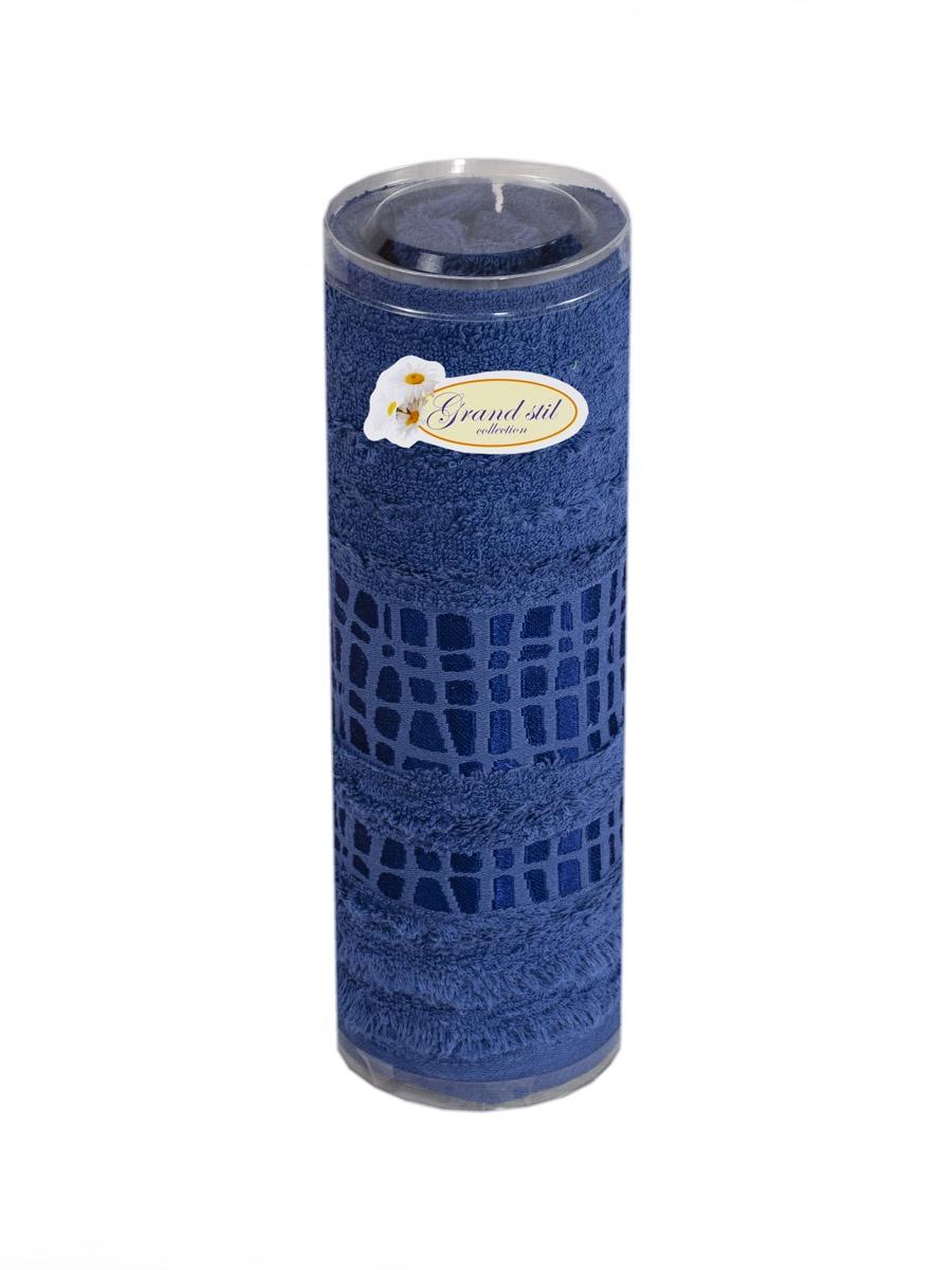 Полотенце для лица, рук или ног Grand Stil Восторг , размер 48*90, GS-H27t, синий