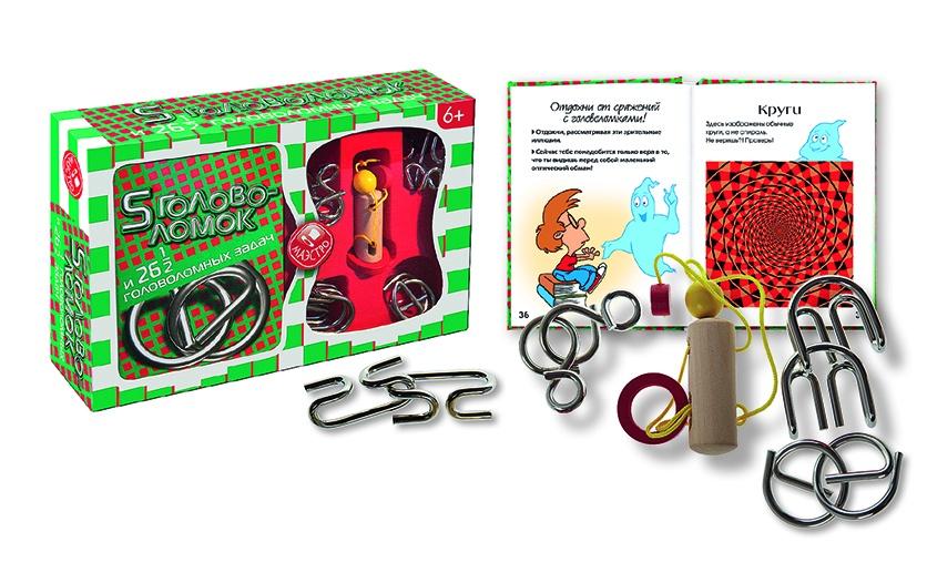 Головоломка Маэстро 5 головоломок и 26,5 головоломных задач настольная игра головоломка маэстро додекаэдр
