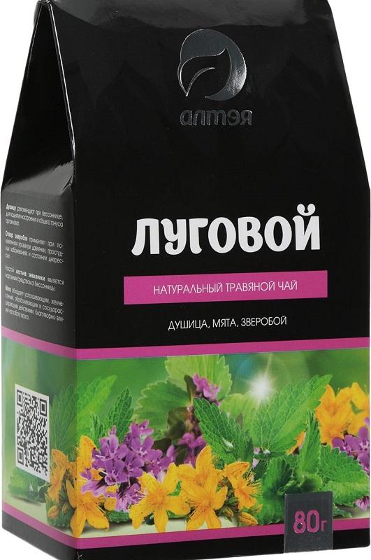 Чай листовой Алтэя Луговой, душица, мята, зверобой, 80 гр, 80 алтэя чайный напиток травяной чай лесной 80 г