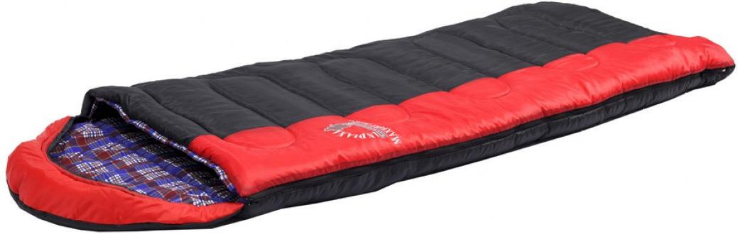 Спальный мешок Indiana Maxfort Plus, правая молния, красный, черный, 230 х 90 см спальный мешок indiana maxfort plus правая молния цвет красный черный синий 195 х 35 х 90 см
