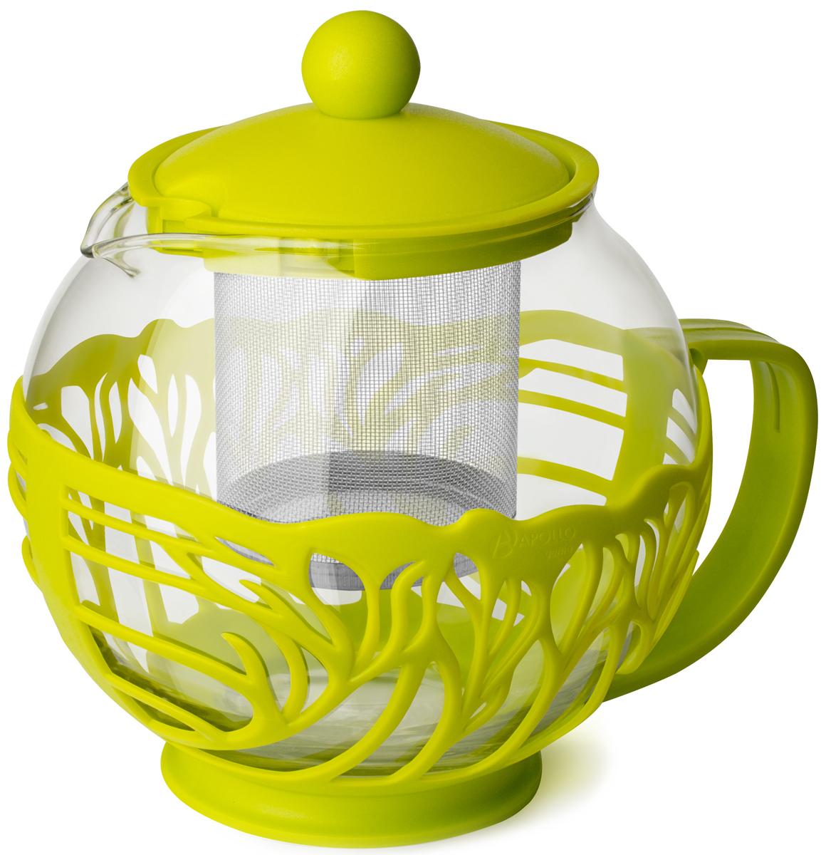 Чайник заварочный Apollo Genio Camellia, CAM-75-G, зеленый, 750 мл