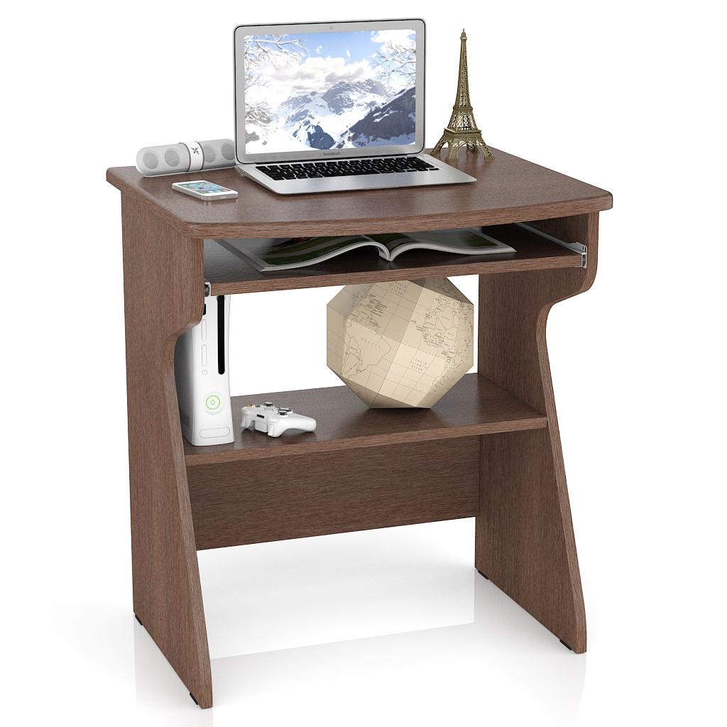 Компьютерный стол Мебельный Двор С-МД-СК1, цвет мокко