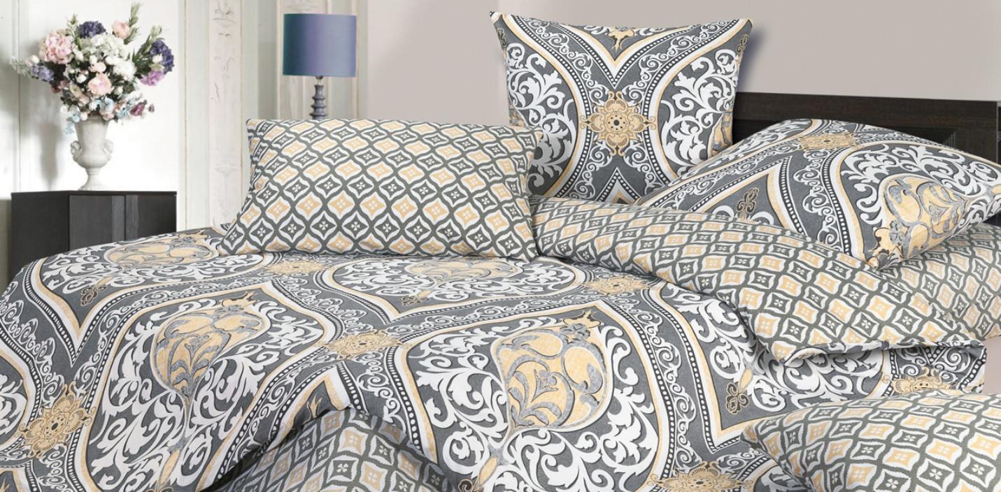 Комплект постельного белья Ecotex Авери, серый