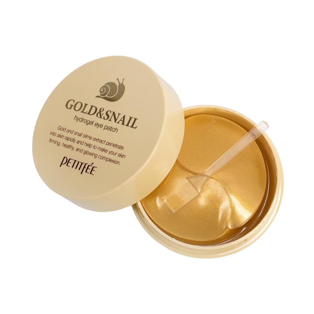 Патчи Petitfee Гидрогелевые с золотом и муцином улитки Hydro Gel Eye Patch Gold & Snail цена и фото
