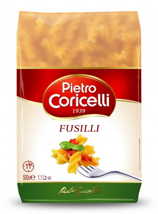 Макароны Pietro Coricelli Фузилли свитер pietro filipi