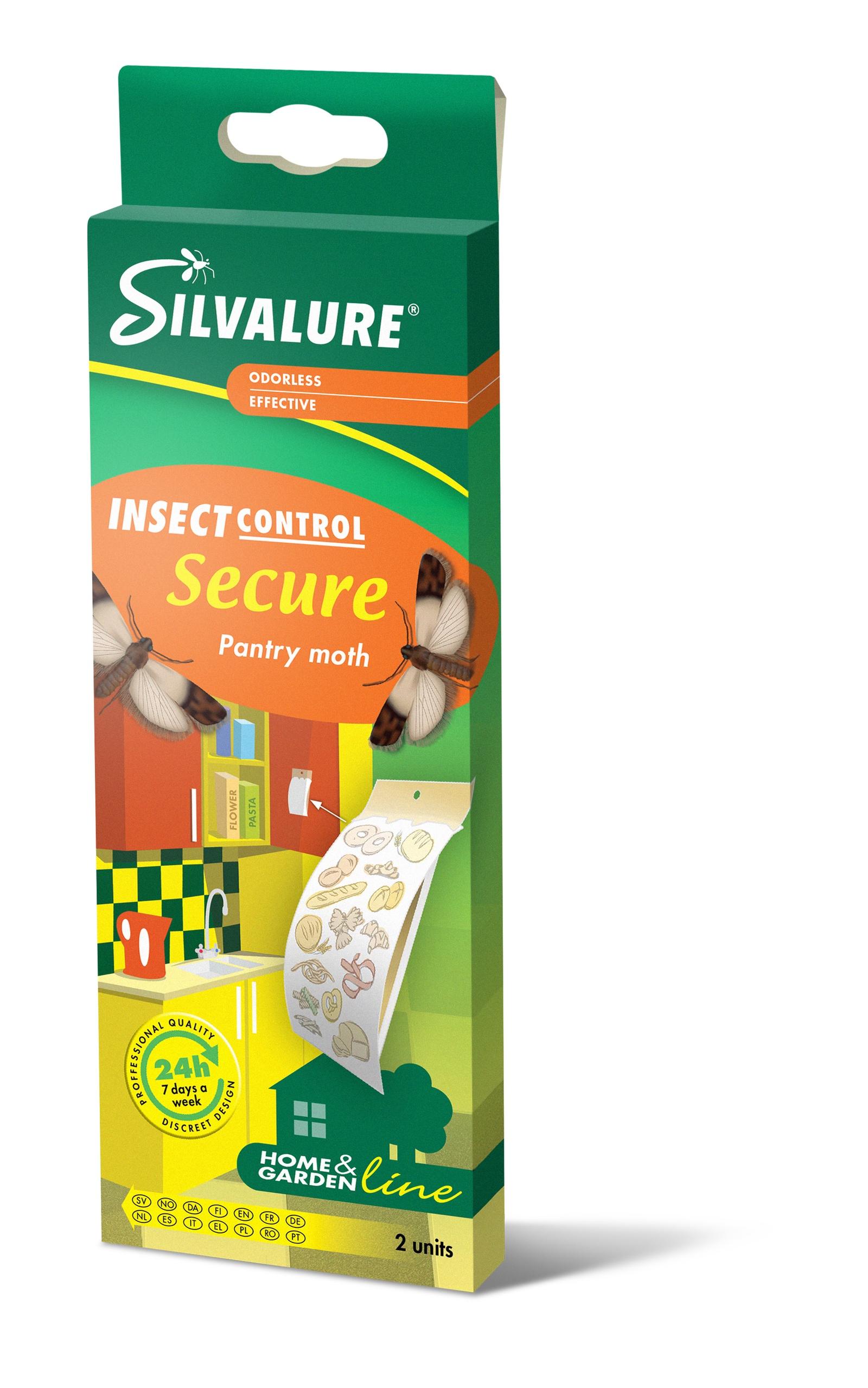 Ловушка для вредителей Silvalure. SECURE Клеевая ловушка с феромонами для пищевой моли 1 штука ловушка для туриста 1979