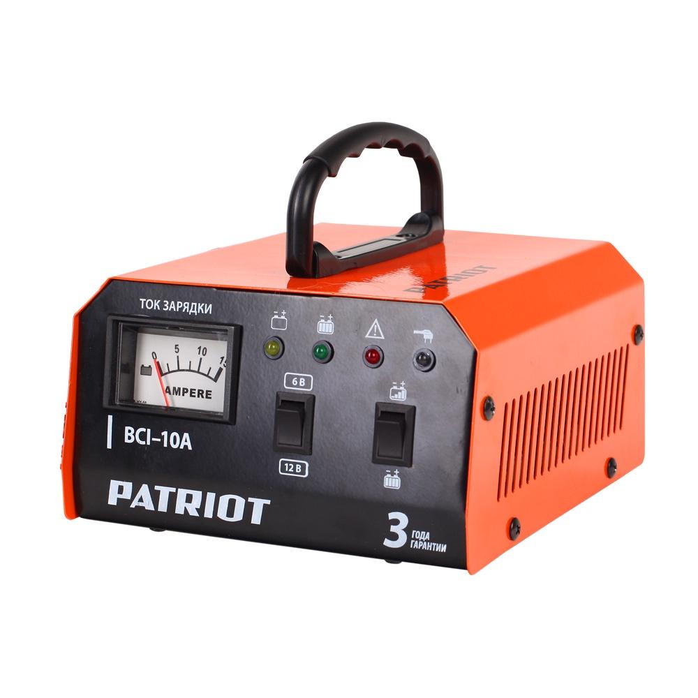 Автомобильное зарядное устройство PATRIOT BCI-10A зарядное устройство wester cb20