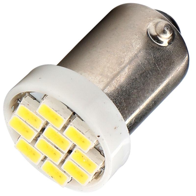 Лампа автомобильная Юпитер светодиодная (10 диодов) 12В4W с цоколем, габаритная (к-т 2шт), белый лампы для подсветки растений