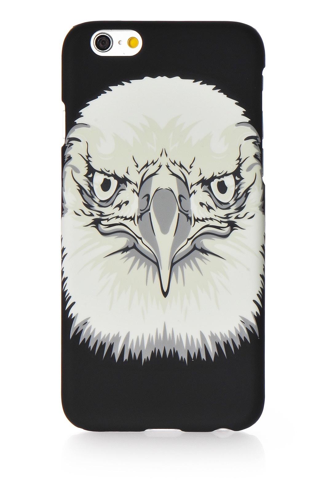 "Чехол для сотового телефона Gurdini Animal пластик soft touch стиль 1 для Apple iPhone 6 Plus/6S Plus 5.5"", черный"