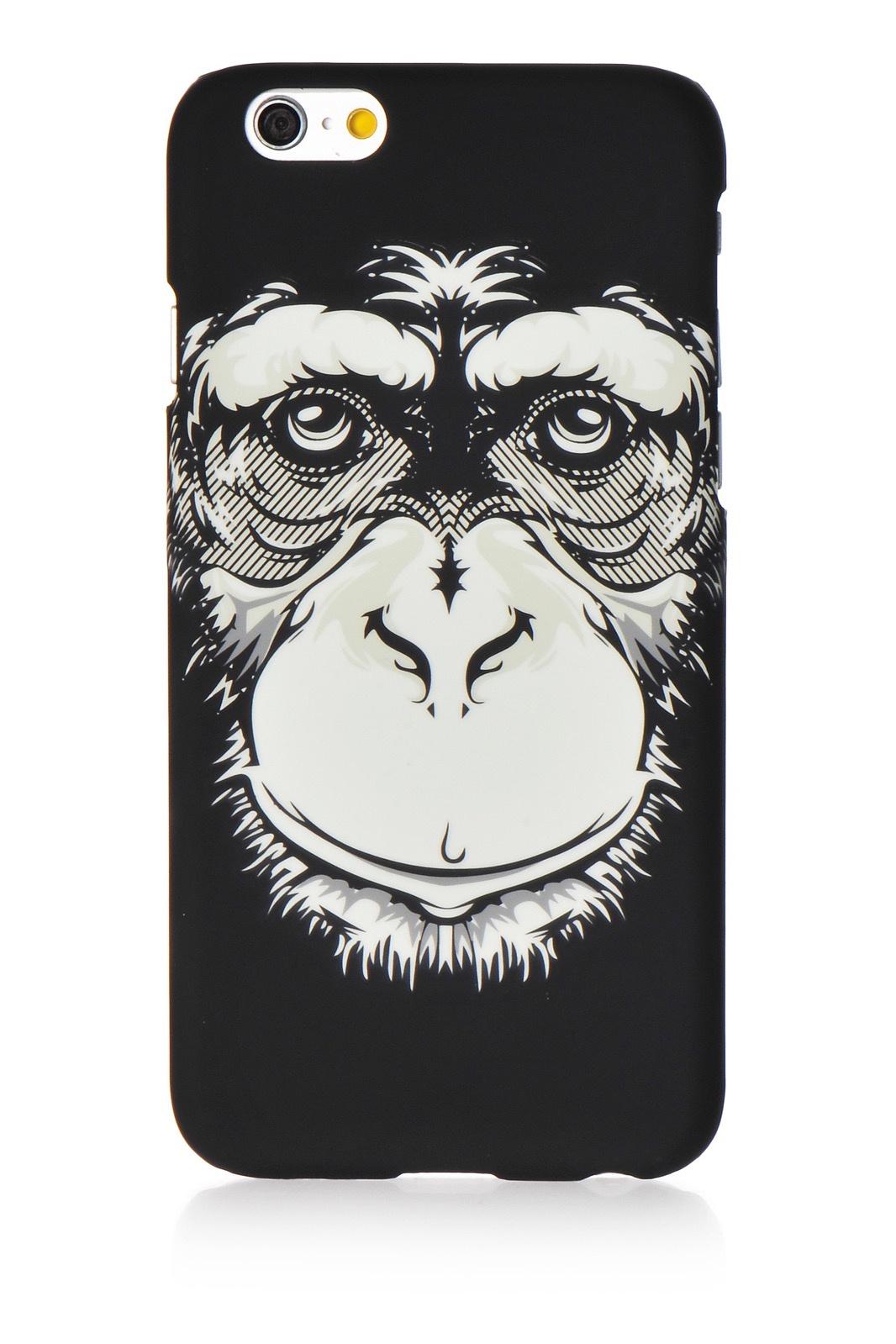 "Чехол для сотового телефона Gurdini Animal пластик soft touch стиль 2 для Apple iPhone 6 Plus/6S Plus 5.5"", черный"