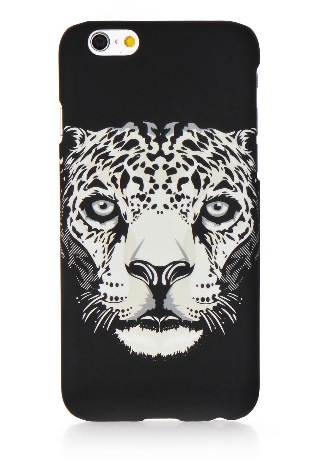 "Чехол для сотового телефона Gurdini Animal пластик soft touch стиль 3 для Apple iPhone 6 Plus/6S Plus 5.5"", черный"