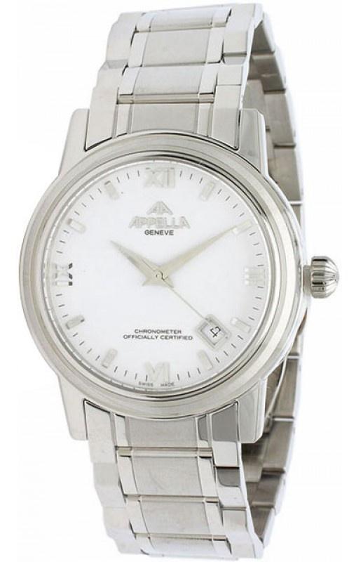Часы Appella AM-1011A-3001, серебристый appella часы appella 4382 43 1 0 04 коллекция ceramic