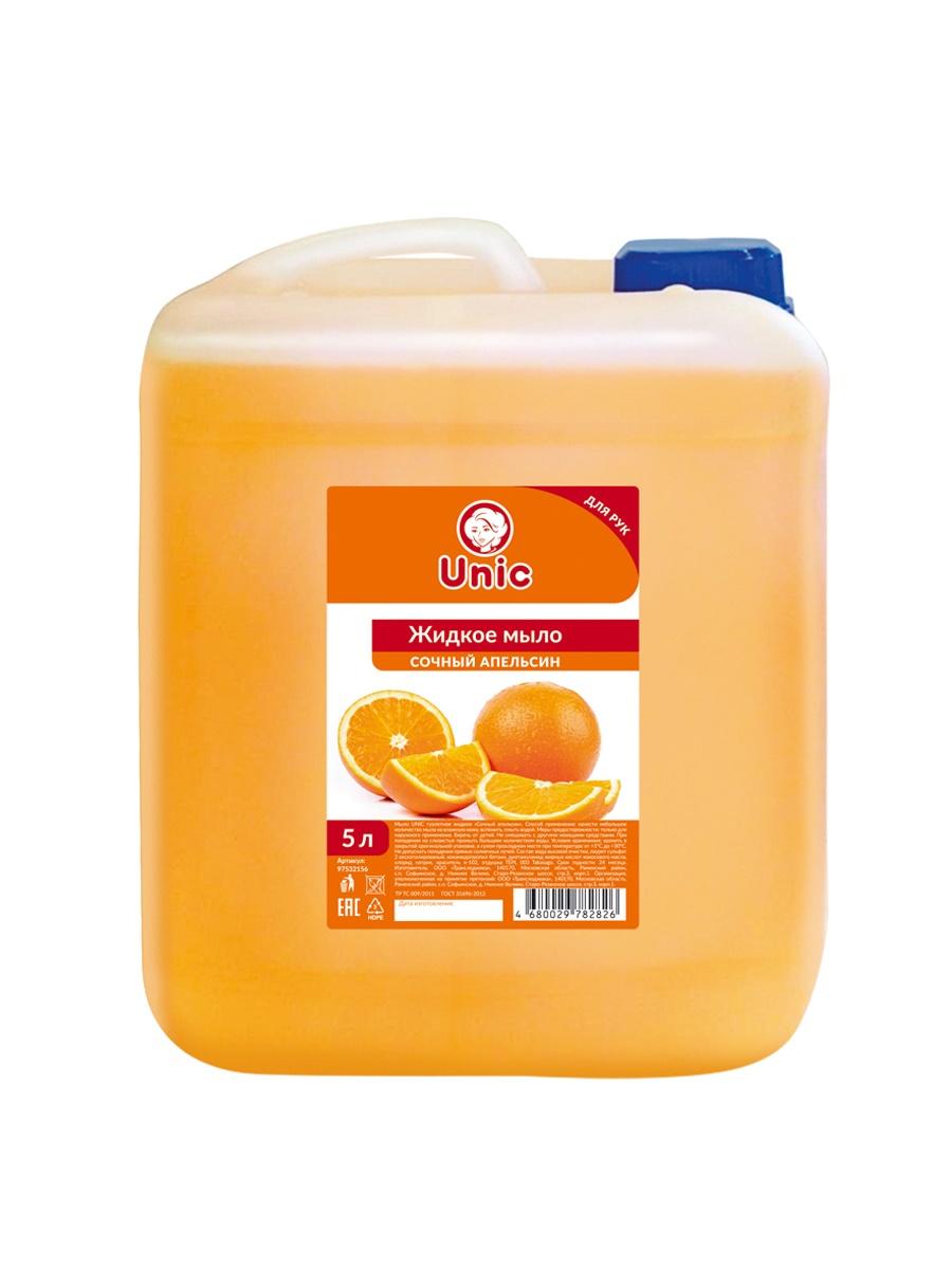 """Жидкое мыло UNIC """"Сочный апельсин"""", 5л."""