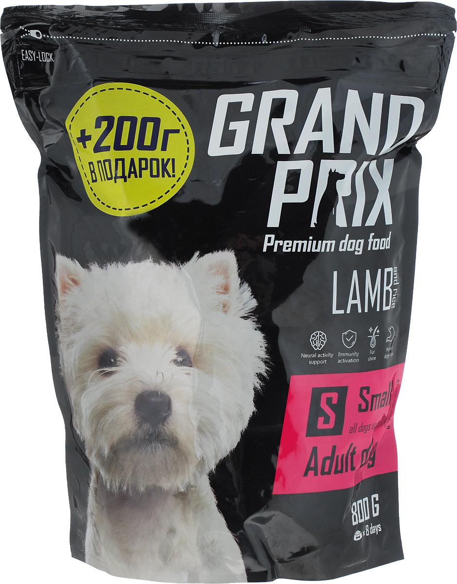 Сухой корм для взрослых собак мелких и миниатюрных пород Grand Prix Small Adult, ягненок, 800 г