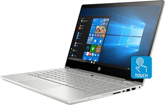14 Ноутбук HP Pavilion x360 14-cd0016ur 4HA22EA, серебристый ноутбук hp pavilion 14 bf102ur 2pp45ea