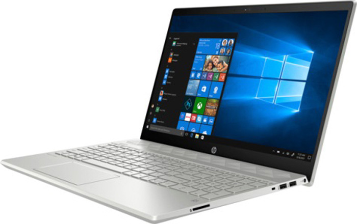 Ноутбук HP Pavilion 15-cs1026ur 15.6 5VZ44EA, серебристый ноутбук hp pavilion 15 cs0023ur 4ju98ea core i5 8250u 4gb 1tb 16gb optane nv mx150 2gb 15 6 fullhd win10 rose gold