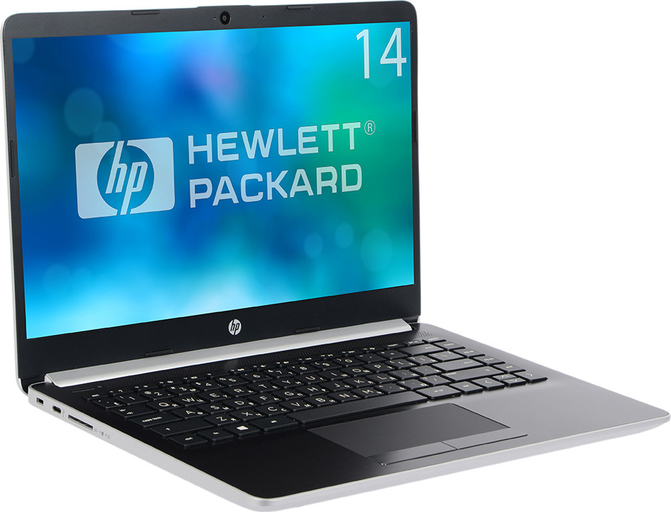 14 Ноутбук HP 14-cf0003ur 14.0 4KC31EA, серебристый ноутбук hp 15 da0046ur 4gk51ea intel n5000 4gb 500gb nv mx110 2gb 15 6 dvd win10 silver