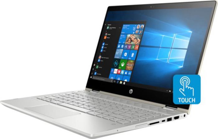 Фото - Ноутбук HP Pavilion x360 14-cd1017ur, 5SU57EA, 14, золотой ноутбук трансформер hp pavilion x360 14 cd0019ur 14 [4mx59ea]