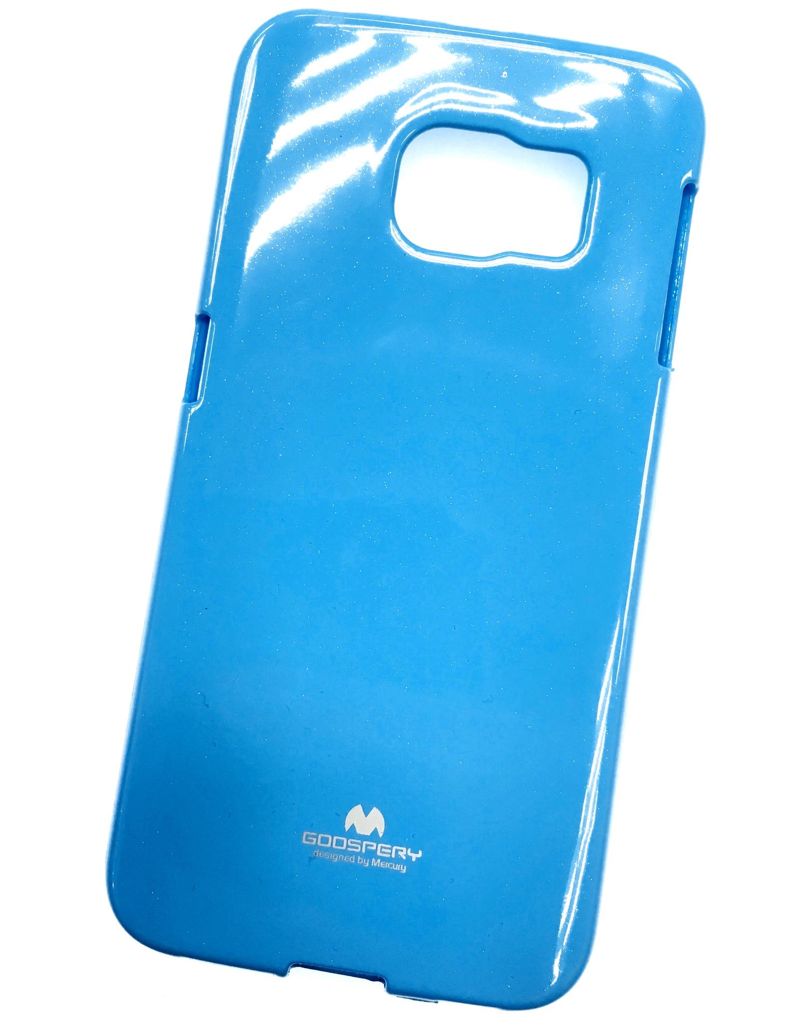 Чехол для сотового телефона Goospery Samsung S6 Edge Накладка силиконовая ламинированная пленкой Jelly Case, голубой