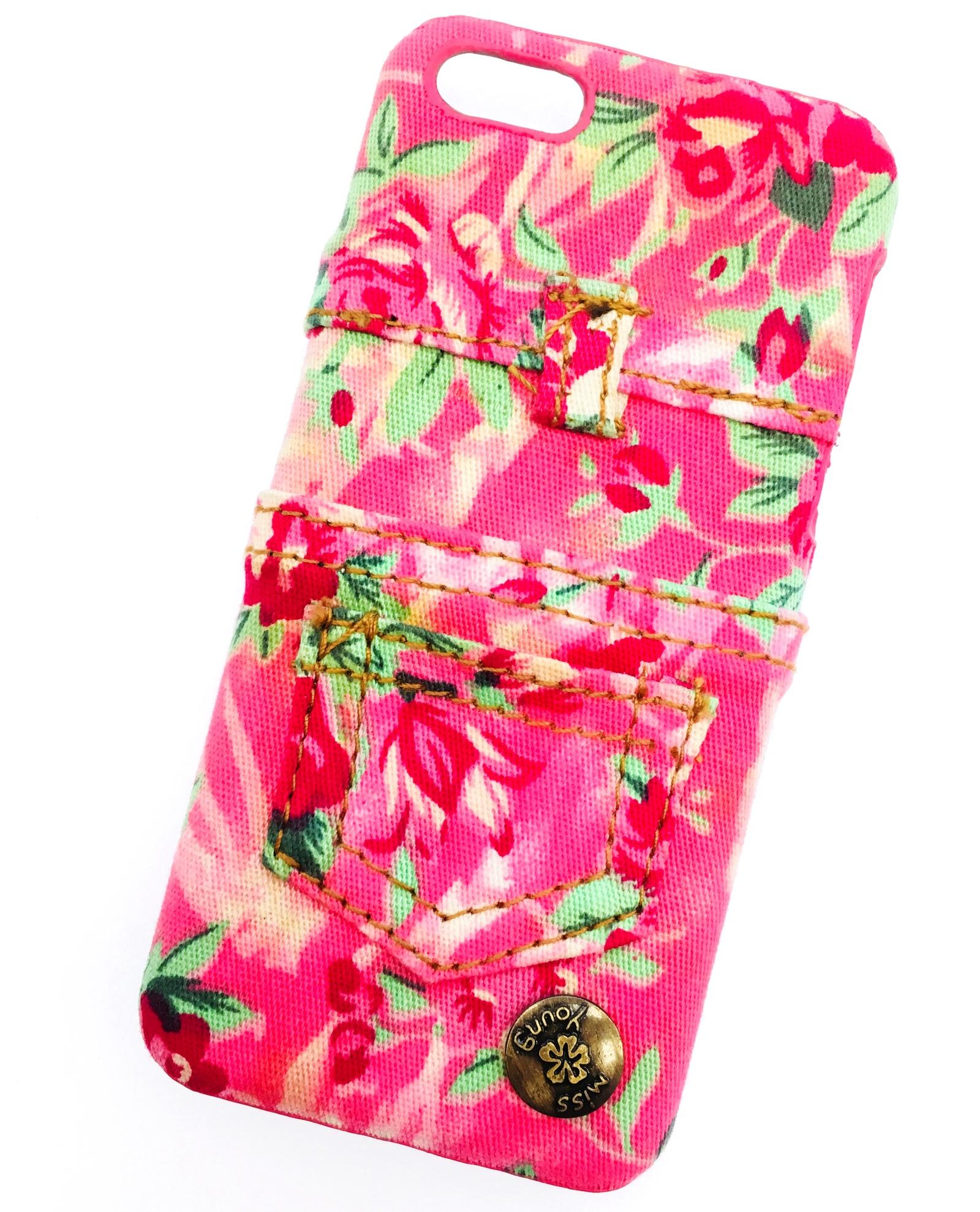 Чехол для сотового телефона Мобильная мода iPhone 5C Накладка пластиковая с кармашком и тканевой отделкой, розовый майка классическая printio хипстер