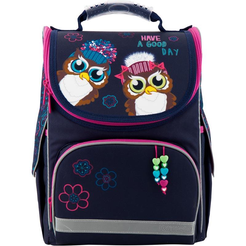 Рюкзак Kite школьный каркасный Education Owls фиолетовый 35x25x13 см, фиолетовый рюкзак детский kite kite ранец школьный 701 каркасный flower power