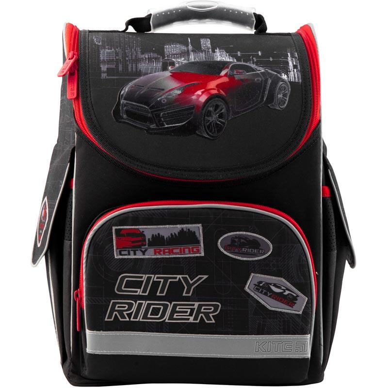 Рюкзак Kite школьный каркасный Education City rider черный 35x25x13 см, черный ранец kite kite ранец школьный 529 каркасный speed