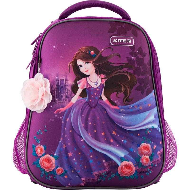 Рюкзак Kite школьный каркасный Education Princess фиолетовый 38x29x16, фиолетовый ранец kite kite ранец школьный 529 каркасный speed
