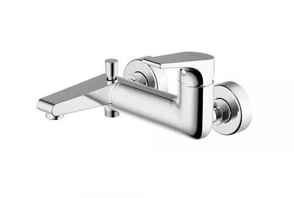 Смеситель Bravat для ванны c коротким изливом Vega F6119177CP-01, серебристый смеситель на борт ванны vega niagara lux 91а1605125