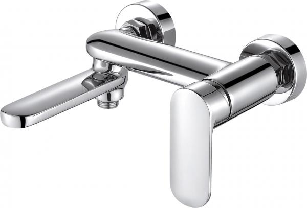 Смеситель Bravat для ванны c коротким изливом Opal F6125183CP-01-RUS, серебристыйF6125183CP-01-RUSСмеситель для ванны c коротким изливом Opal F6125183CP-01-RUS