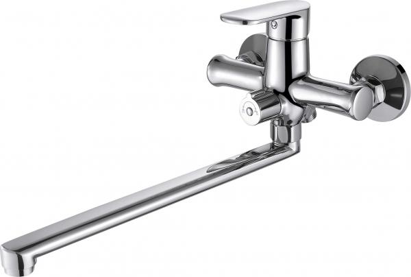 Смеситель Bravat для ванны c длинным изливом Opal F6125183CP-02L-RUS, серебристый