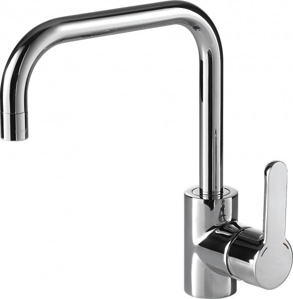 Смеситель Bravat для кухни Stream F73783C-1A, серебристый смеситель gappo azure g4066 для кухни