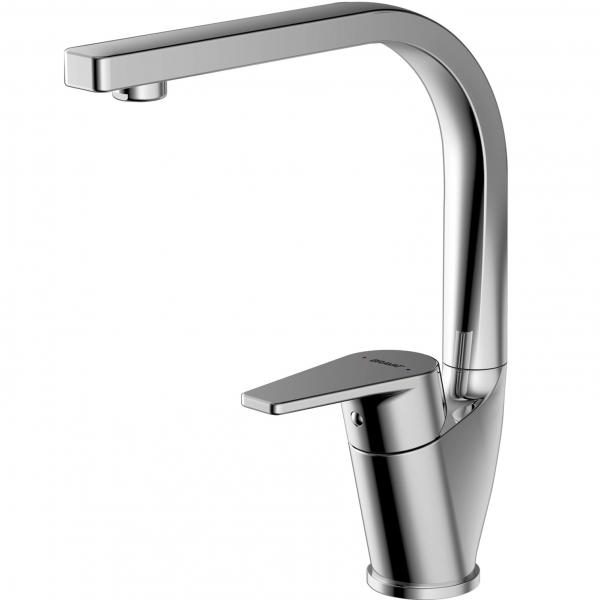Смеситель Bravat для кухни Line F75299C-2, серебристый цена
