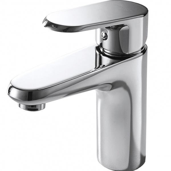 Смеситель Bravat для умывальника Pure F1105161C, серебристый смеситель для умывальника milardo magellan magsb00m01