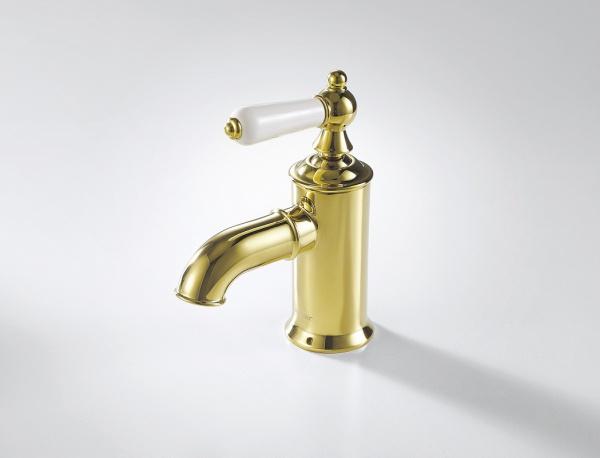 Смеситель Bravat для умывальника Art F175109G, золотой смеситель для раковины bravat art f175109g
