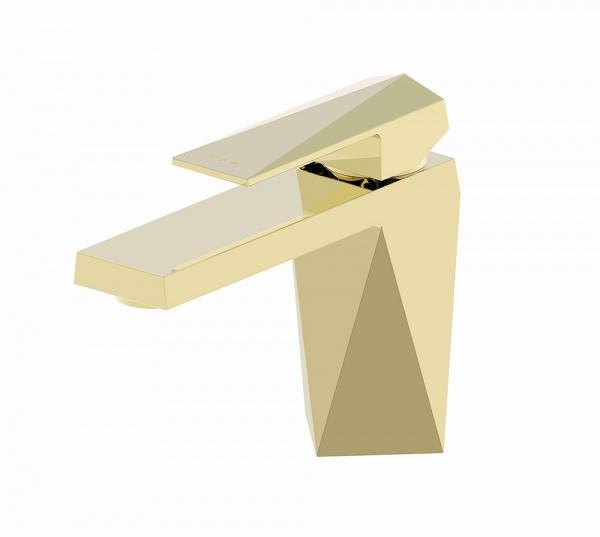 Смеситель Bravat для умывальника Iceberg F176110G, золотой цена