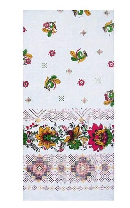Фото - Полотенце вафельное 35/70 см 541/1 Вышиванка наборы полотенец для кухни романтика полотенце вафельное 50 70 романтика душистый пион
