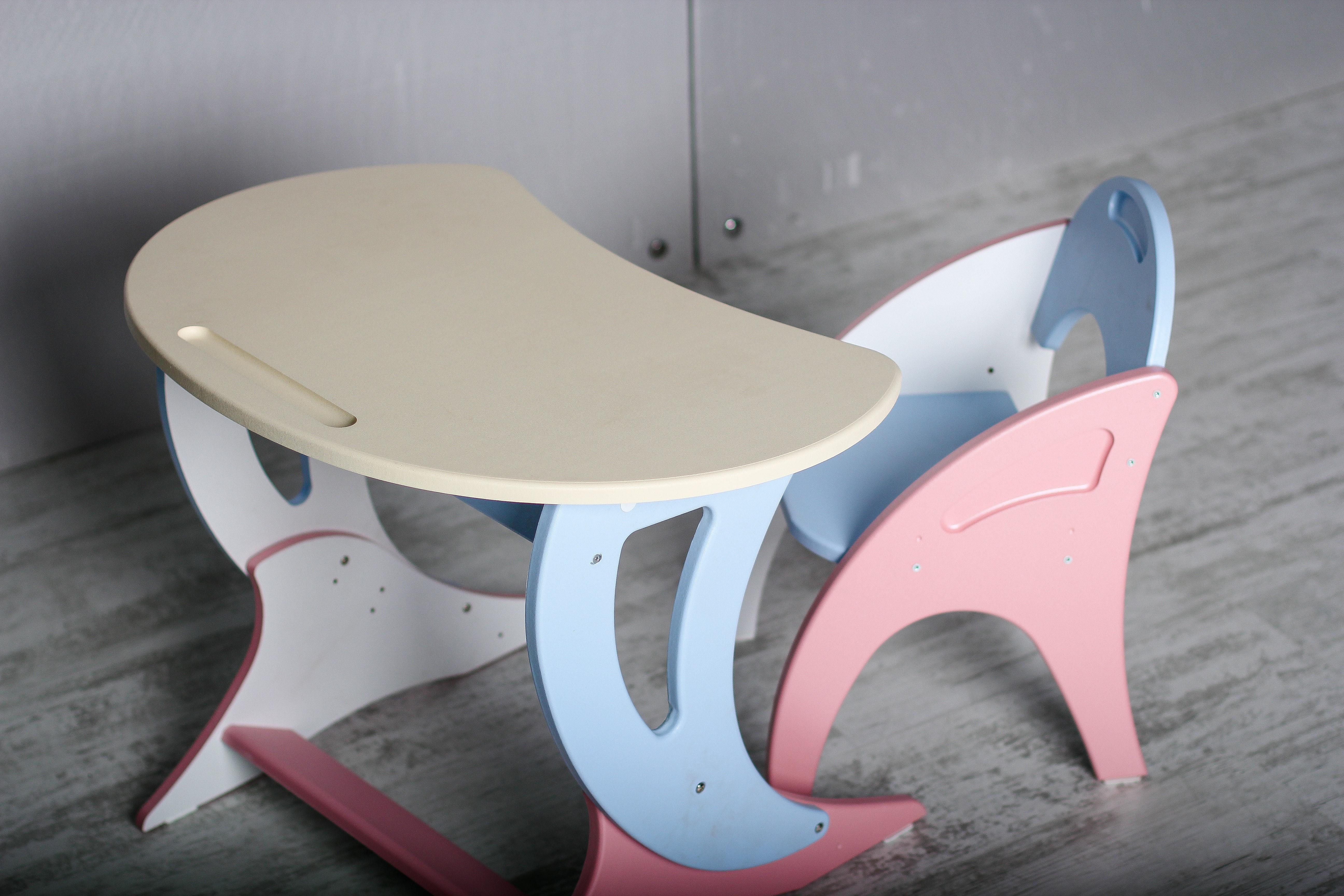 Набор детской мебели Интехпроект ПАРУС, бежевый, голубой, розовый