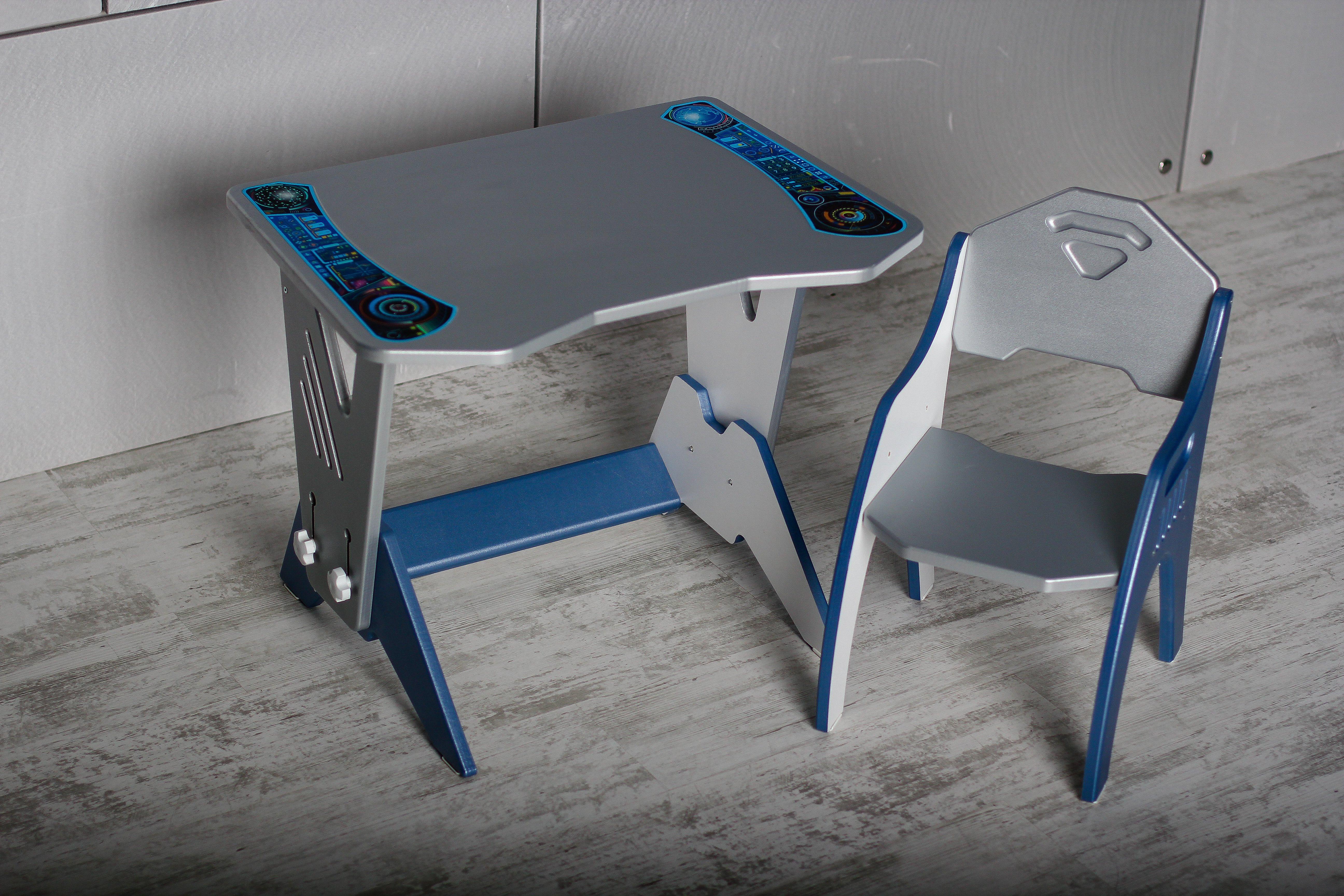 Набор детской мебели ТЕХНО Серебристый-Синий набор детской мебели интехпроект трансформер розовый