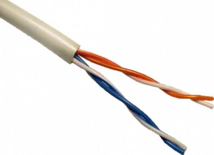 Кабель для компьютерных сетей Uniflex UTP2-CAT5e (24 AWG) медный, внутренний, серый, 305 м