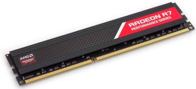 Модуль оперативной памяти AMD Radeon DDR4 4Gb 2400Mhz Long DIMM, R744G2400U1S