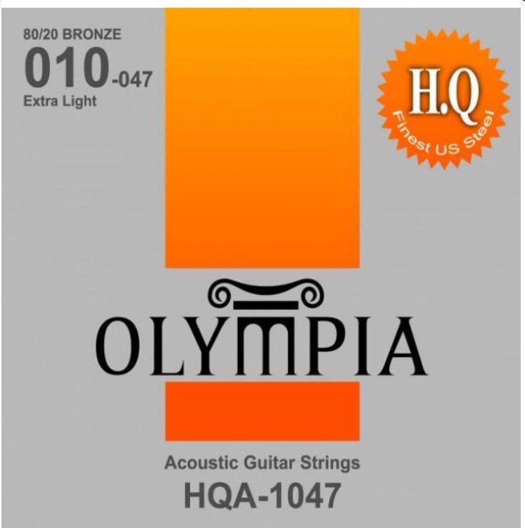 Струны для акустической гитары Olympia 80/20 Bronze (10-14-23w-30-39-47), HQA1047