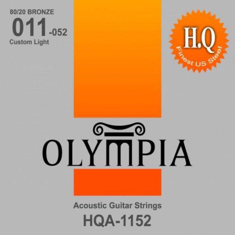 Струны для акустической гитары Olympia 80/20 Bronze (11-15-22w-32-42-52), HQA1152 струны для акустической гитары d addario ez910